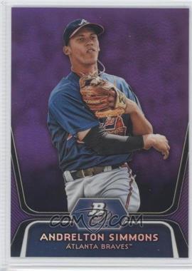 2012 Bowman Platinum - Prospects - Retail Purple Refractor #BPP76 - Andrelton Simmons
