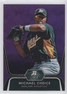 2012 Bowman Platinum - Prospects - Retail Purple Refractor #BPP8 - Michael Choice