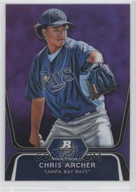 2012 Bowman Platinum - Prospects - Retail Purple Refractor #BPP82 - Chris Archer