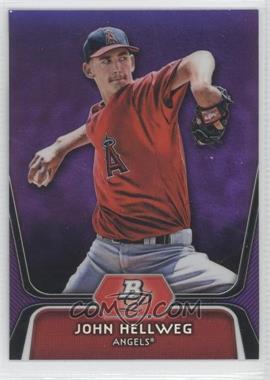2012 Bowman Platinum - Prospects - Retail Purple Refractor #BPP87 - John Hellweg