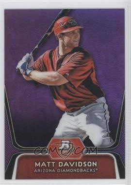 2012 Bowman Platinum - Prospects - Retail Purple Refractor #BPP96 - Matt Davidson