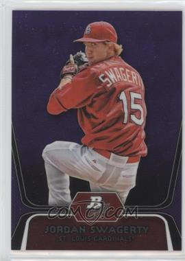 2012 Bowman Platinum - Prospects - Retail Purple Refractor #BPP98 - Jordan Swaggerty