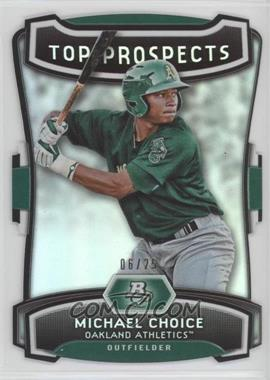 2012 Bowman Platinum - Top Prospects - Die-Cut #TP-MC - Michael Choice /25