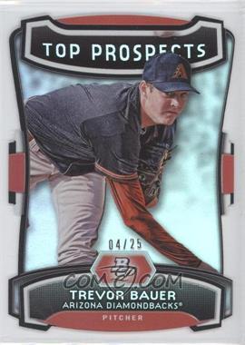 2012 Bowman Platinum - Top Prospects - Die-Cut #TP-TB - Trevor Bauer /25