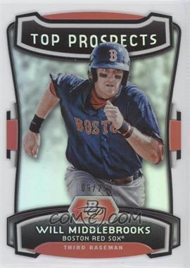 2012 Bowman Platinum - Top Prospects - Die-Cut #TP-WMK - Will Middlebrooks /25