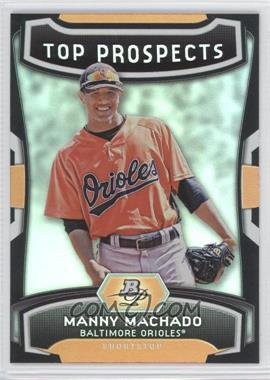 2012 Bowman Platinum - Top Prospects #TP-MM - Manny Machado