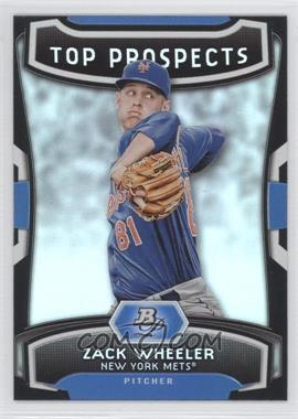 2012 Bowman Platinum - Top Prospects #TP-ZW - Zack Wheeler
