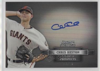 2012 Bowman Sterling - Autograph - Black Refractor #BSAP-CHE - Chris Heston /25