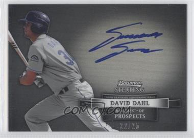 2012 Bowman Sterling - Autograph - Black Refractor #BSAP-DD - David Dahl /25