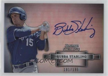2012 Bowman Sterling - Autograph - Refractor #BSAP-BS - Bubba Starling /199