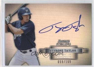 2012 Bowman Sterling - Autograph - Refractor #BSAP-TT - Tyrone Taylor /199
