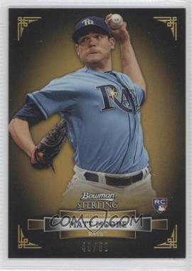 2012 Bowman Sterling - [Base] - Gold Refractor #14 - Matt Moore /50
