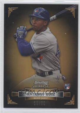 2012 Bowman Sterling - [Base] - Gold Refractor #9 - Anthony Gose /50