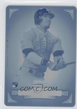 2012 Bowman Sterling - [Base] - Printing Plate Cyan #48 - Starling Marte /1
