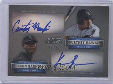 2012 Bowman Sterling - Dual Autographs - Black Refractor #DA-HB - Courtney Hawkins, Keon Barnum /25