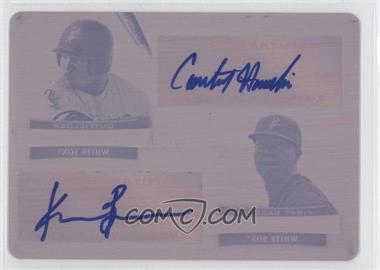 2012 Bowman Sterling - Dual Autographs - Printing Plate Magenta #DA-HB - Courtney Hawkins, Keon Barnum /1