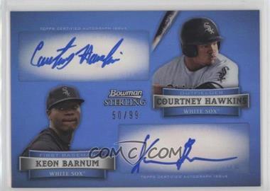 2012 Bowman Sterling - Dual Autographs - Refractor #DA-HB - Courtney Hawkins, Keon Barnum /99