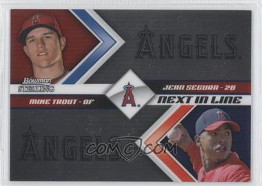 2012 Bowman Sterling - Next in Line #NIL5 - Mike Trout, Jean Segura