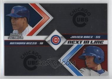 2012 Bowman Sterling - Next in Line #NIL8 - Anthony Rizzo, Javier Baez
