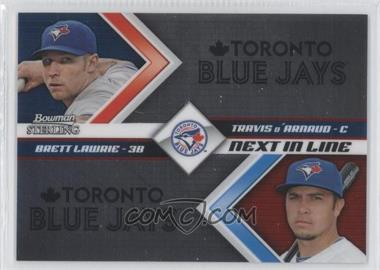 2012 Bowman Sterling - Next in Line #NIL9 - Brett Lawrie, Travis d'Arnaud