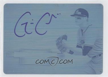 2012 Bowman Sterling - Prospect Autographs - Printing Plate Cyan #BSAP-GC - Gavin Cecchini /1