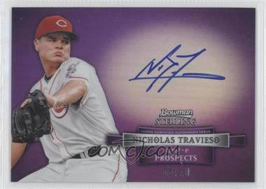 2012 Bowman Sterling - Prospect Certified Autographs - Purple Refractor #BSAP-NT - Nick Travieso /10