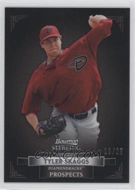 2012 Bowman Sterling - Prospects - Black Refractor #BSP40 - Tyler Skaggs /25