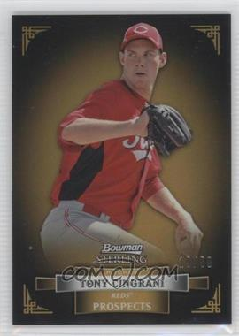 2012 Bowman Sterling - Prospects - Gold Refractor #BSP13 - Tony Cingrani /50