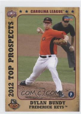 2012 Choice Carolina League Top Prospects - [Base] #01 - Dylan Bundy
