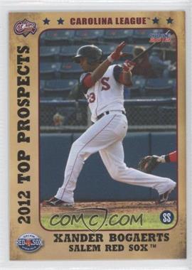 2012 Choice Carolina League Top Prospects - [Base] #03 - Xander Bogaerts