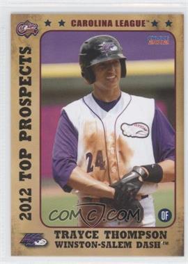 2012 Choice Carolina League Top Prospects - [Base] #04 - Trayce Thompson