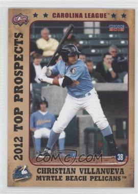 2012 Choice Carolina League Top Prospects - [Base] #18 - Christian Villanueva