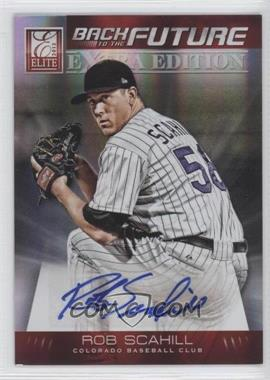 2012 Elite Extra Edition - Back to the Future Signatures #10 - Rob Scahill /599