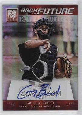 2012 Elite Extra Edition - Back to the Future Signatures #7 - Greg Bird /249