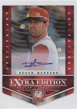 2012 Elite Extra Edition - [Base] - Aspirations Die-Cut Signatures [Autographed] #115 - Deven Marrero /100