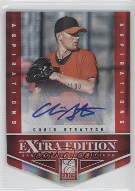 2012 Elite Extra Edition - [Base] - Aspirations Die-Cut Signatures [Autographed] #12 - Chris Stratton /100
