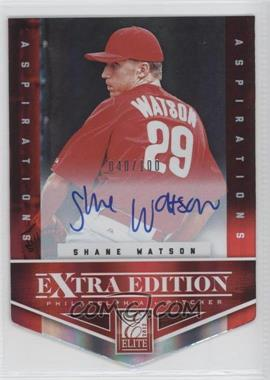 2012 Elite Extra Edition - [Base] - Aspirations Die-Cut Signatures [Autographed] #122 - Shane Watson /100
