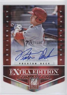 2012 Elite Extra Edition - [Base] - Aspirations Die-Cut Signatures [Autographed] #134 - Preston Beck /100
