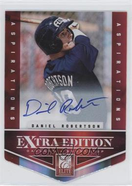2012 Elite Extra Edition - [Base] - Aspirations Die-Cut Signatures [Autographed] #136 - Daniel Robertson /100