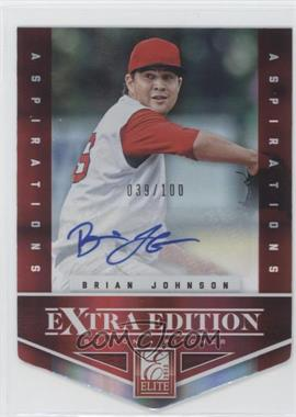 2012 Elite Extra Edition - [Base] - Aspirations Die-Cut Signatures [Autographed] #14 - Brian Johnson /100