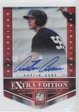 2012 Elite Extra Edition - [Base] - Aspirations Die-Cut Signatures [Autographed] #140 - Austin Aune /100