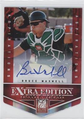 2012 Elite Extra Edition - [Base] - Aspirations Die-Cut Signatures [Autographed] #145 - Bruce Maxwell /100