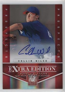2012 Elite Extra Edition - [Base] - Aspirations Die-Cut Signatures [Autographed] #147 - Collin Wiles /100