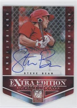 2012 Elite Extra Edition - [Base] - Aspirations Die-Cut Signatures [Autographed] #153 - Steve Bean /100