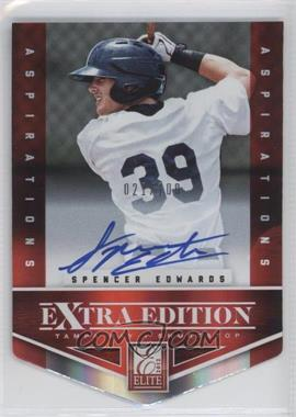 2012 Elite Extra Edition - [Base] - Aspirations Die-Cut Signatures [Autographed] #154 - Spencer Edwards /100