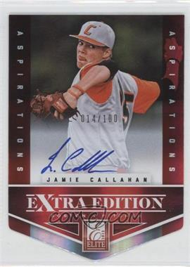 2012 Elite Extra Edition - [Base] - Aspirations Die-Cut Signatures [Autographed] #161 - Jamie Callahan /100
