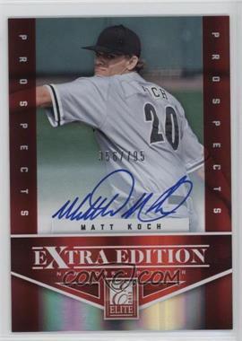 2012 Elite Extra Edition - [Base] - Aspirations Die-Cut Signatures [Autographed] #164 - Matt Koch /100