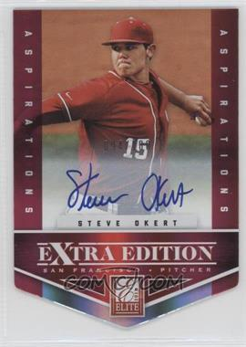 2012 Elite Extra Edition - [Base] - Aspirations Die-Cut Signatures [Autographed] #172 - Steve Okert /100