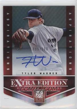 2012 Elite Extra Edition - [Base] - Aspirations Die-Cut Signatures [Autographed] #181 - Tyler Wagner /100