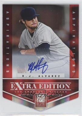 2012 Elite Extra Edition - [Base] - Aspirations Die-Cut Signatures [Autographed] #186 - R.J. Alvarez /100